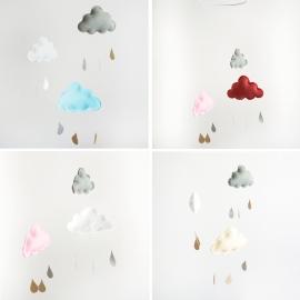 Móvil nubes y gotas