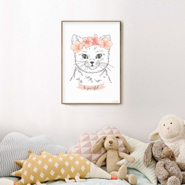 "Poster gato by ""S comme Gilberte"""